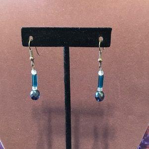 Handmade blue beaded earrings. 3/$12 Sale